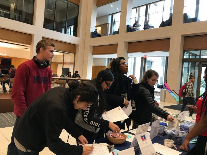 UConn Hartford students attend a Monday Mania career event